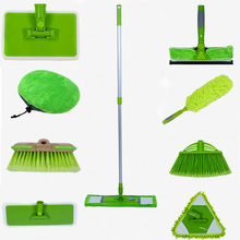 TV DIY cleaning tools magic telescopic mop  pole with microfiber cloth floor cleaning mop bathroom car clean free combination