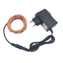 10 Meter Copper 100 Led string light 100led 12V1A power adapter waterproof collorful led light indoor decoration for christmas(China)