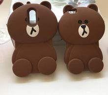 3D Cartoon Animal Brown Bear Soft Silicone Case For IPhone 5 5S 5G 6 6S 7 Plus Cover For Samsung Galaxy S3 S4 S5 S6 S7 Edge Case