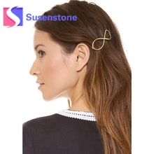 New Stylish 1PC Women Infinity Gold Barrette Hairpin Hair Clip Hair accessories Headband Hair Jewelry Perfect Gift for lady