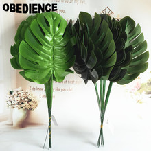 OBEDIENCE 10Pcs Artificial Plants Banana leaf Plastic Simulation Wedding Home Party Decoration Flower Spring Grass