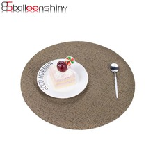 BalleenShiny Round Coasters Plate Pad Slip-resistant PVC Table Mat Placemat Dining Table Decor Heat Insulation Mat Tablecloth