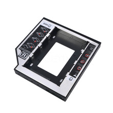 "Universal Aluminum Plastic 2nd HDD SSD caddy 12.7mm SATA 3.0 For 2.5"" Hard Disk Driver Case Enclosure DVD CD-ROM Optibay"