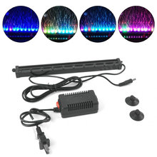 Colorful Submersible Air Bubble Aquarium Light 10 LED Fish Tank Coral Lamp Tube IP68 Waterproof Underwater RGB Led Lighting(China)