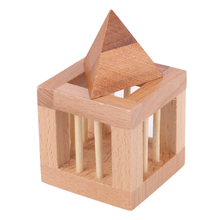 Take Triangle Out Kong Ming Luban Locks China Ancestral Locks Traditional Wooden Brain Teaser Puzzle Educational Toys Magic Cube