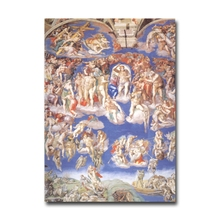 Michelangelo's Last Judgment Fine Art Paintings Fridge Magnet Home Decoration Refrigerator Magnetic Stickers Gift