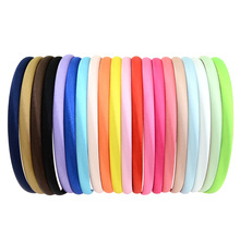 20Pcs/Lot Fashion Girls Hair Hoop Women hairband Plastic Satin Covered Headbands narrow Hair Band Accessories 754(China)