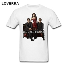 Vampire Diaries Main Stars Men T-Shirt O-Neck Summer Brand Clothing Cotton Oversize TShirt Man Short Sleeve Fitness Tee Shirt