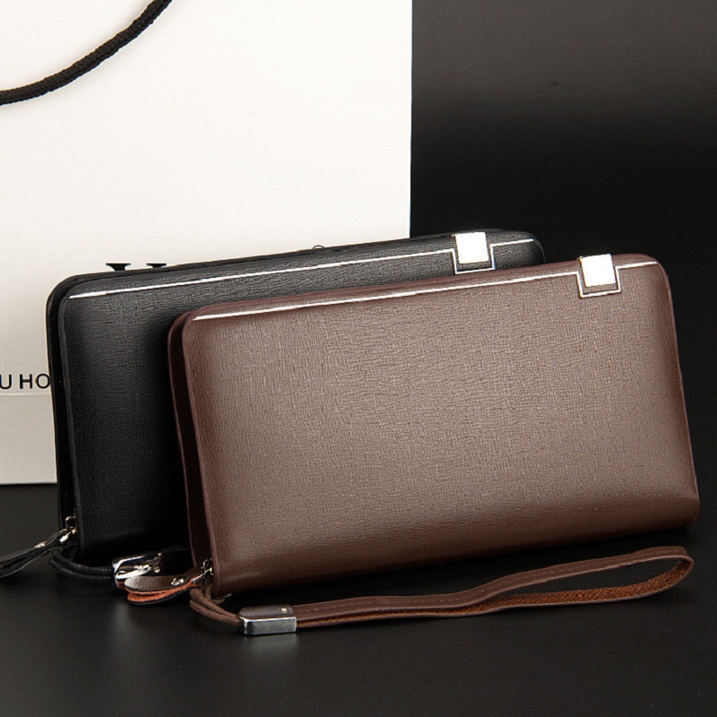 newest styles men's high Hot-selling PU leather Iron edge wallet,purse,day clutch man,Free S6232