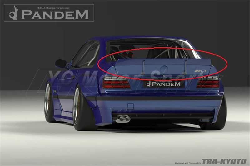 Car Accessories FRP Fiber Glass Pandem Style Rear Wing Fit For 1992 1999 E36 3