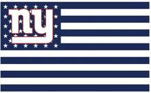 New York Giants Flag Navy And White with Star and Stripes  the Star-Spangled Banner 100D Polyester Flag 90*150 CM