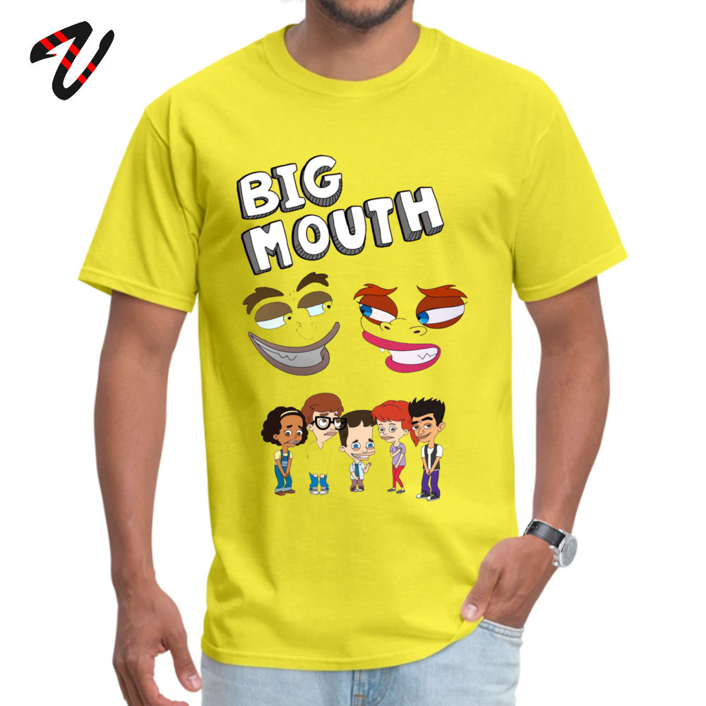 Design T Shirt Prevailing Short Sleeve Young T Shirts TpicOriginaltitle Simple Style April FOOL DAY Tops Shirts Crew Neck Big Mouth Monsters16284 yellow