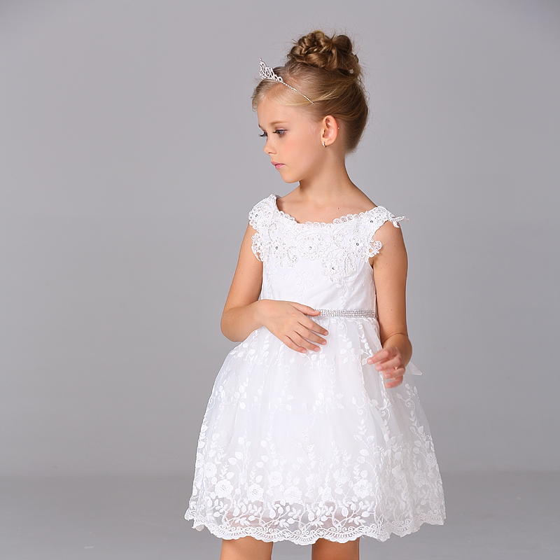 Wholesale New wedding party dress Kid girl lace dress Flower girl dress  diamond belt  12pcs/1lot   T188<br><br>Aliexpress