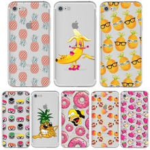 Pineapple Phone Case Donut Simpson Fruit Banana Funny for iPhone 5s 6 6s 7 plus se 5 Transparent Silicone Soft Clear TPU Covers