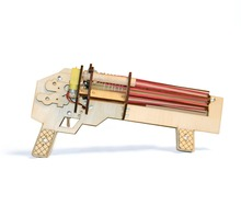 Creative DIY rubber toy machine gun rapid-fire automatic rubber band gun educational toys wooden toys
