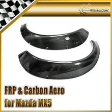 Discount Car-styling For MX5 1989-1997 NA Miata Carbon Fiber Rocket B Style Wide Body Rear Fender Flare R Bunny Mudguard(China)