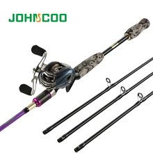 Casting Fishing Rod with casting Reel Set M MH ML Power 3 Tips Carbon Medium Fast 2.4m Lure Rod Super light Fishing rod Combo(China)