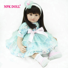 NPKDOLL Silicone Reborn Babies 22inch 56cm Soft Full Body Silicone Reborn Dolls Unisex Newborn Toys In-stock Items(China)