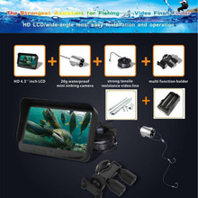 Original 30m 720P Professional Fish Finder Underwater Ice Fishing Camera Night Vision 6 Infrared LED 4.3 inch LCD Monitor