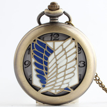 Fantasy free wing Quartz Pocket Watch Necklace Pendant Chian Women Men Birthday Gifts Relogio De Bolso(China)