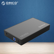 ORICO 3588US3 Portable Tool-free SATA3.0 to USB 3.0 2.5 & 3.5 inch SSD & Sata HDD Enclosure Case [Support UASP Protocol&8TB]
