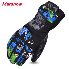 2017 Marsow New Design Men Skiing Gloves Snowboard Warm Snow Gloves Outdoor Motorcycle Riding Waterproof Gloves For Men M1108