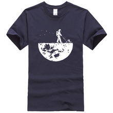 Hot sale 2017 summer men t-shirt novelty design HanHent Develop The Moon cotton brand men's t shirt harajuku fitness tops tshirt(China)