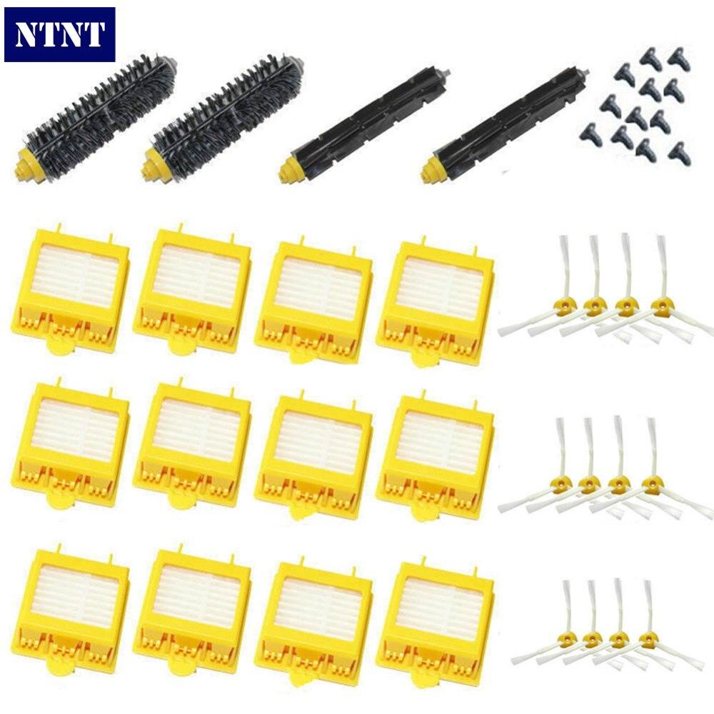 NTNT New Filters Brush 3-armed Side screws Kit for iRobot Roomba 700 Series 760 770 780<br>