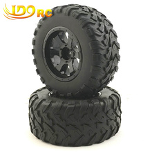 RC 1:10 Short Course Truck Tires Set Tyre Wheel Rim for Traxxas Slash HPI Pro-Line Racing