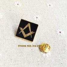 20pcs Free Masons Masonic Lapel Pin Hard Enamel Brooch Square and Compass  without G Metal Badge Customized Pins Freemasonry 449f712b9406