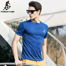 Pioneer Camp 2016 summer new fashion mens short sleeve t shirt absorb sweat ourdoors t-shirt men active o-neck 622065(China)