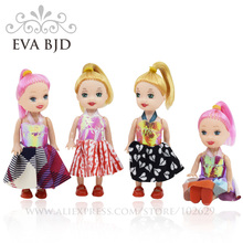 1/12 BJD Doll 10cm 5 jointed dolls Girl Mini Baby Doll + Randomly Clothes shoes Accessories Dolls for girls Gift EVA BJD DB005