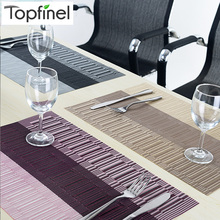 Top Finel Set of 8 PVC Kitchen Dinning Bamboo Table Placemats for Table Mat Manteles Individuales Doilies Cup Mats Coaster Pad