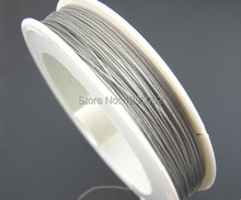 5 Rolls (5x70M) Wholesales Free shipping Hot New DIY Silver Tone Beading Wire Creation Component Making Jewelry 0.45mm