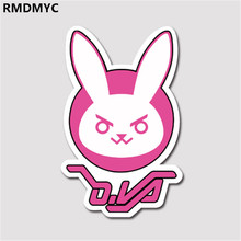 RMDMYC Toys 3pcs/set 7.5cm overwatches Stickers OW D.VA Pachimari  LOGO Sticker for Wall notebook DIY OW Sticker Kids Toys Gifts