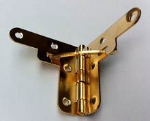 Rushed Limited Freeshipping Packaging Hardware Hinge Support Extremely Heavy Imitation Gold Gift Box Brace 30 * 32mm Jin
