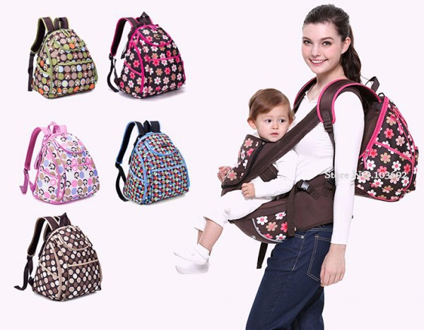 New Arrival COLORLAND Large Capacity Elegant Baby Diaper Backpacks Bags with Changing Mat Multifunctional Nappy Bag For Mommy<br>
