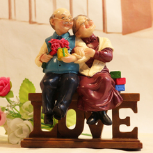 Souvenir Gifts Resin Figures For Miniature Garden love figurines Home Decoration Accesories Wedding house ornaments