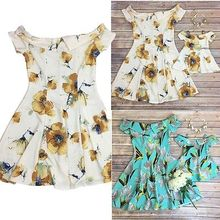 Family Outfits Clothes Mother Daughter Kid Matching Dress Womens Girls Party(China)