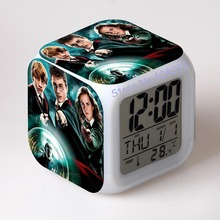 Harry Potter Digital Alarm Clock Color Changing LED Clock Kids Cartoon Clock