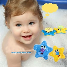 Low Price New 2017 Kawaii Kids Children Bathing Water bath Toy Starfish Baby Sassy Toys Cute Swimming Funny Bath Toys