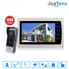 "Jeatone 10"" TFT Display wired Video doorbell Door Phone Intercom &3.7mm Lens Touch Key Outdoor Camera For Home Security(China)"