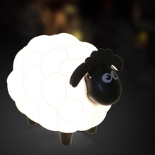 Cartoon model sheep table lampeye care creative battery USB computer night light perfect gift for kids IY303142(China)