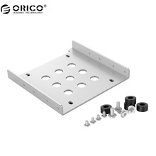 ORICO Aluminum 2.5 to 3.5 inch Hard Drive Caddy Free Installation Screws Support 2.5 inch IDE / HDD / SSD -Sliver/Blue/Black(China)