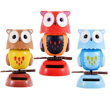 2017 New Solar Toys Household Car Decoration Cute Owl Children Love Parenting Education Toys Free shipping(China)