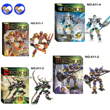 A toy A dream BionicleMask of Light XSZ 611-1 Children's Kopaka Master Of ICE Bionicle Building Block Toys Compatible Lepin(China)
