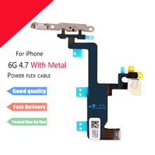 1pcs New Power Button Switch  & with Metal  On/Off Flex Cable Ribbon Replacement Part for iPhone 6 6G 4.7 inch