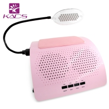 KADS New Arrival 40W Nail Dust Collector Pink Color Two Fans High Power Have LED Lamp to Irradiate Manicure Tools(China)