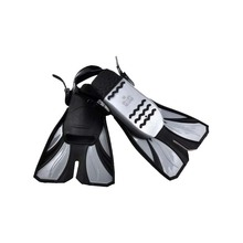 Adult Adjustable Submersible short Fins Snorkeling Foot Flipper Swimming Diving 2 Size