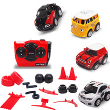 meibeile Mini Cute Cartoon Acceleration Remote Control RC Stunt Car with Accessories Best Xmas Gift for Kid Boy over 6 Years(China)